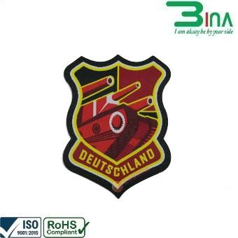 Mác dệt logo